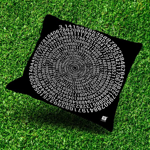 Pi Outdoor Throw Pillow