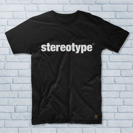 Men's black Stereotype T shirt by uchi clothing