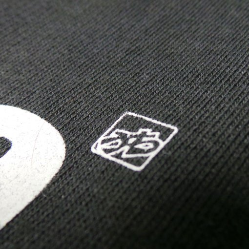 Men's black Stereotype T shirt detail by uchi clothing