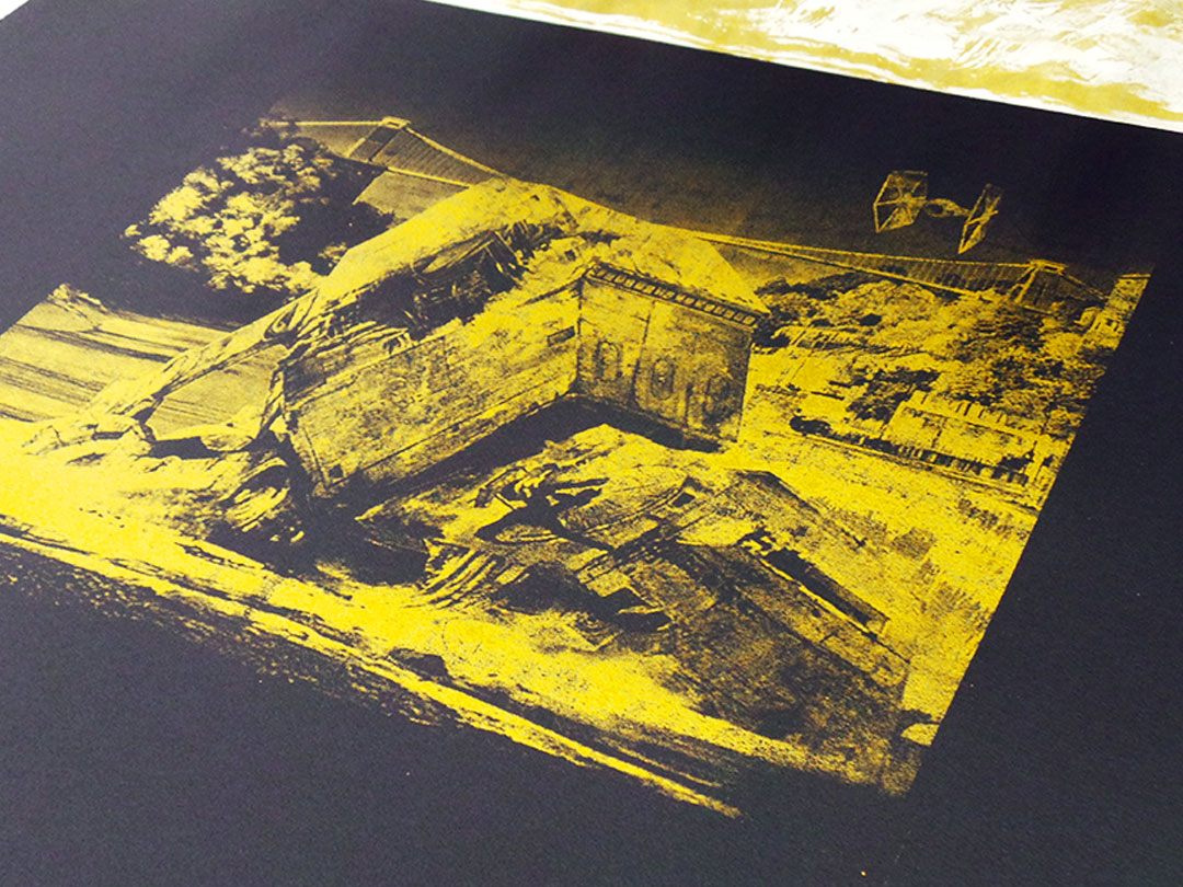 Walker Down - Gold screen print