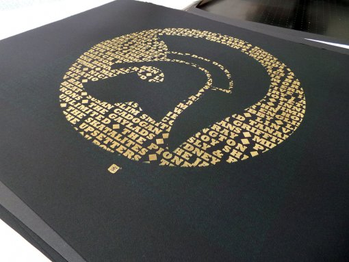 Trojan Screen Print in Gold on Black