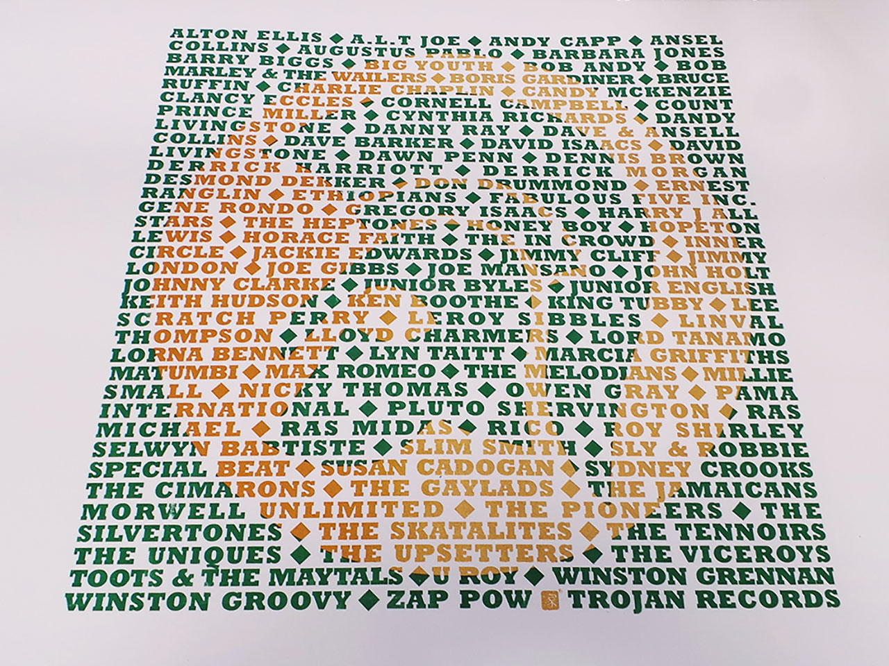 Trojan Records Screen Print on White