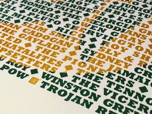 Trojan Records - limited edition screen print