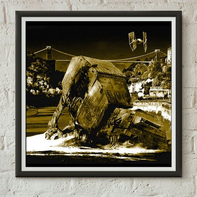 Star Wars v Bristol Episode II - Walker Down Screen print