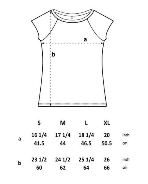 Womens T shirt Size Chart