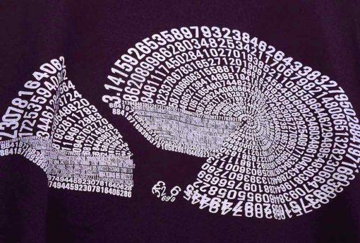 Women's Pi Pie bamboo T shirt detail
