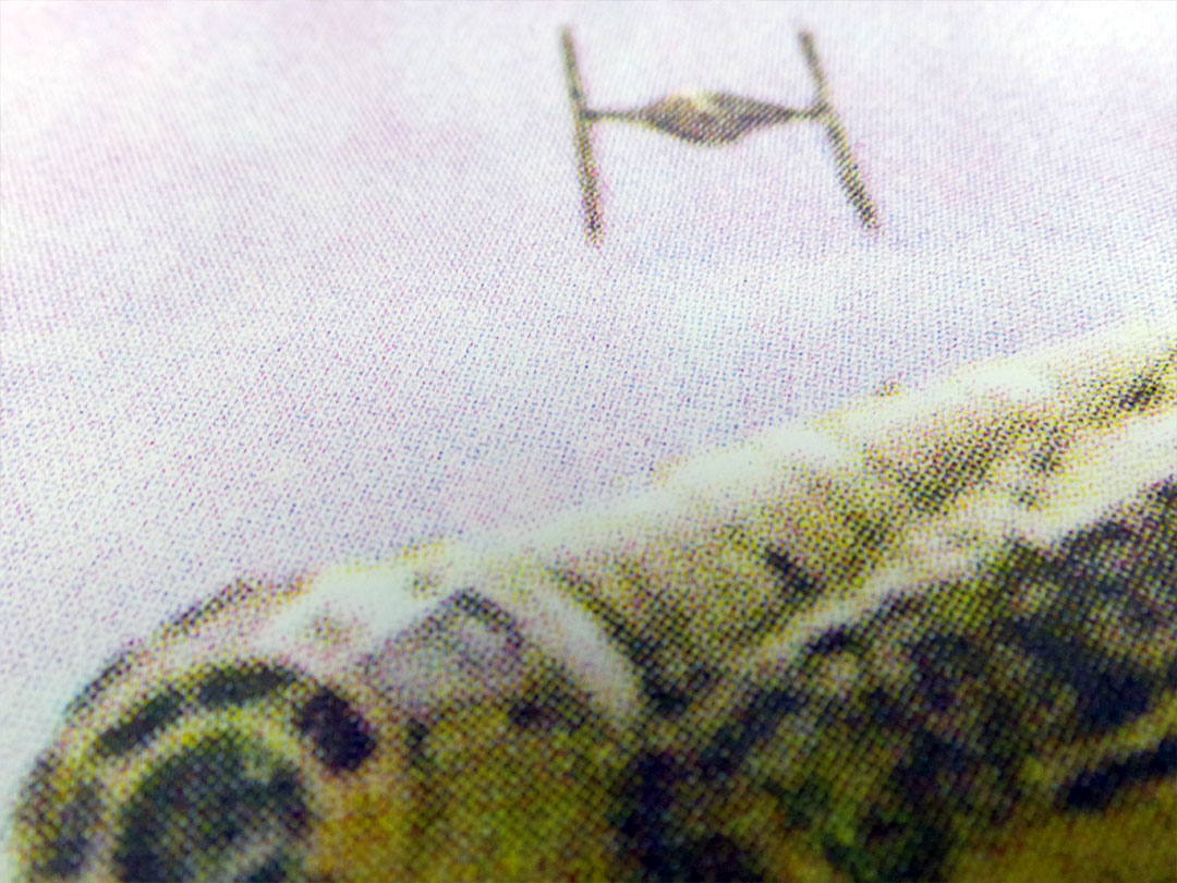 Star Wars vs Bristol - Millennium Falcon Dogfight Over Avon Gorge screen print detail