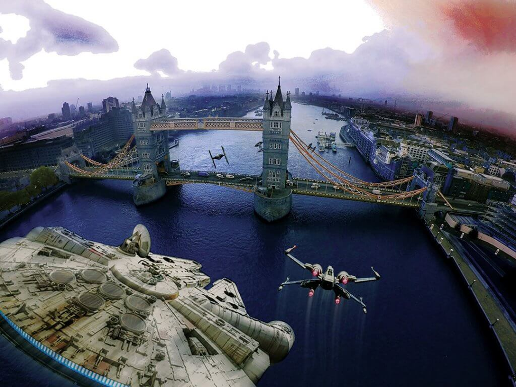 Star Wars v London - Incident at Tower bridge