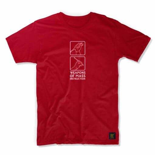 Weapons of Mass Instruction Men's Dark RedT shirt