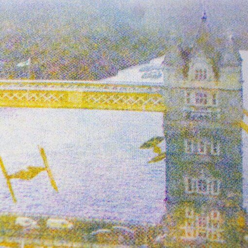 Star Wars Tower Bridge screen print - Yellow, magenta, cyan