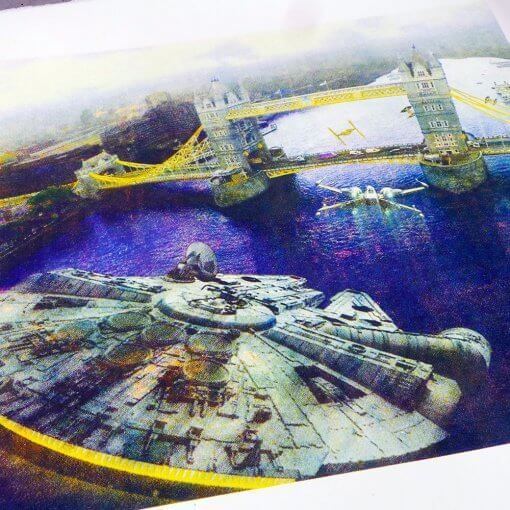Star Wars Tower Bridge screen print - Artist proof