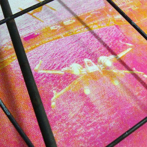 Star Wars Tower Bridge screen print - Yellow and magenta