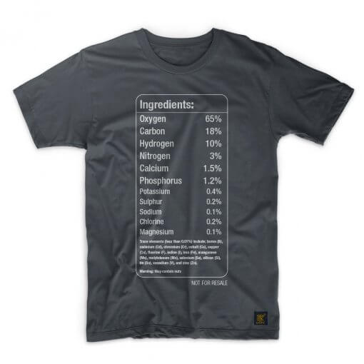 Elements of the human body mens T shirt