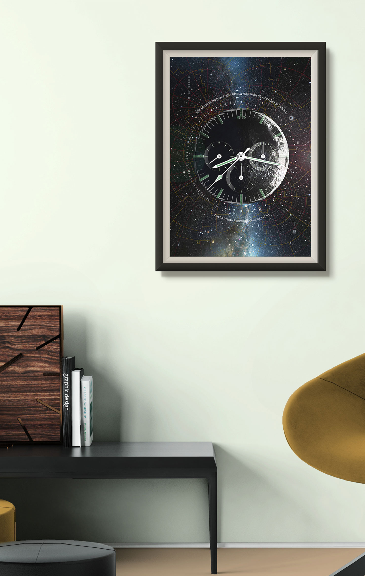 50th Anniversary Apollo XI Omega Speedmaster Art Print
