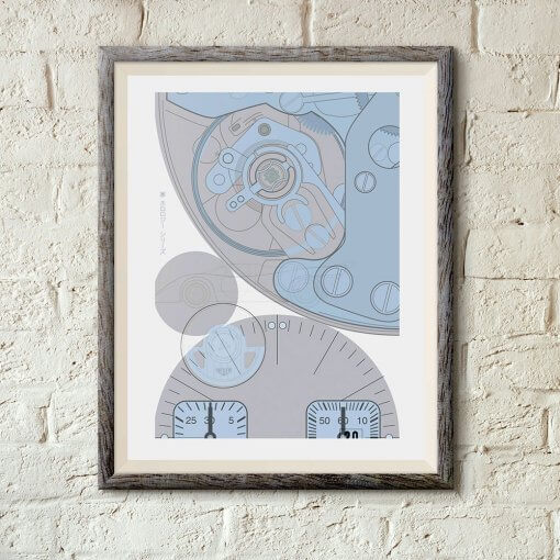 TAG Heuer Monaco No 4 - Limited Edition Timepiece art print by uchi clothing