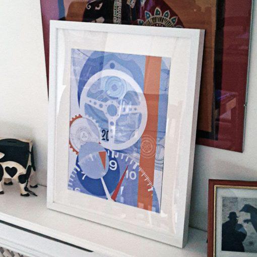 uchi Timepiece Art - TAG Monaco print no 1
