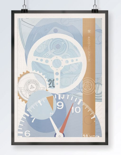uchi Timepiece Art - TAG Monaco print
