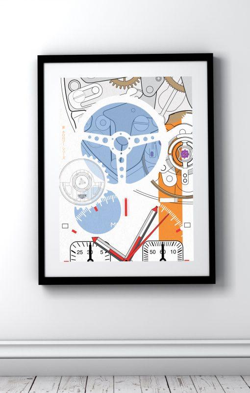 uchi Timepiece Art - TAG Monaco print no 2