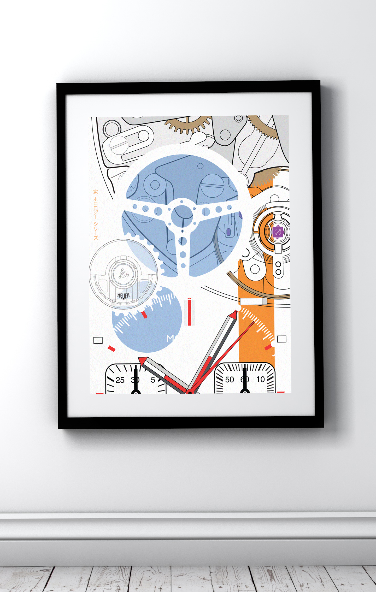 TAG Heuer Monaco art prints and t-shirts