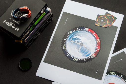 uchi Timepiece Art - SEIKO SKX Mod A print