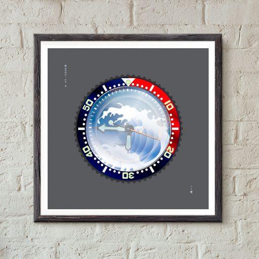 uchi Timepiece Art - SEIKO SKX Mod A wall art