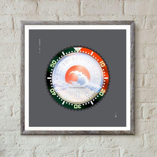 uchi Timepiece Art - SEIKO SKX Mod C wall art