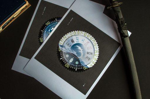 uchi Timepiece Art - SEIKO SKX Mod D horology wall art