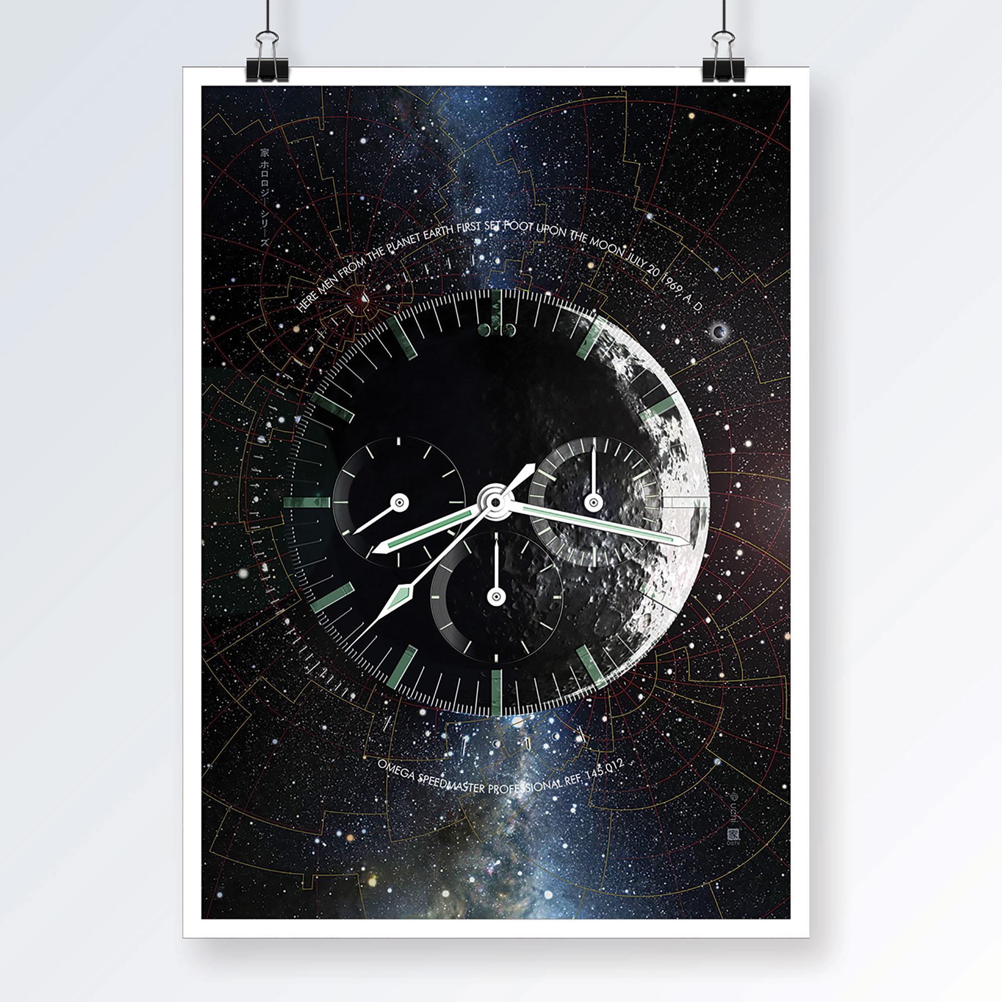 OMEGA Speedmaster Moonwatch art print - uchi horology series
