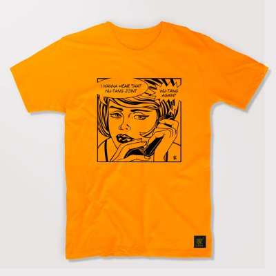 Protect Ya Neck men's gold T shirt by uchi clothing