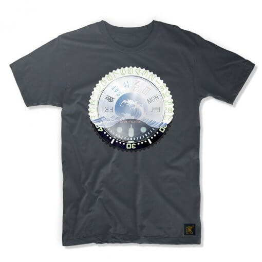 uchi horology series - SEIKO SKX Mod D T shirt - grey