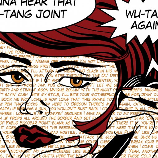 Protect Ya Neck lyrics fine art canvas