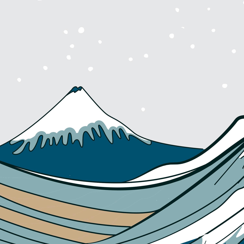 Soundwave off Kanagawa art print detail