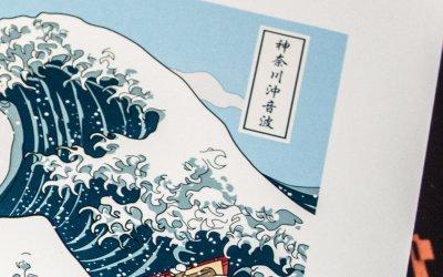 Soundwave off Kanagawa Art print (神奈川沖音波)