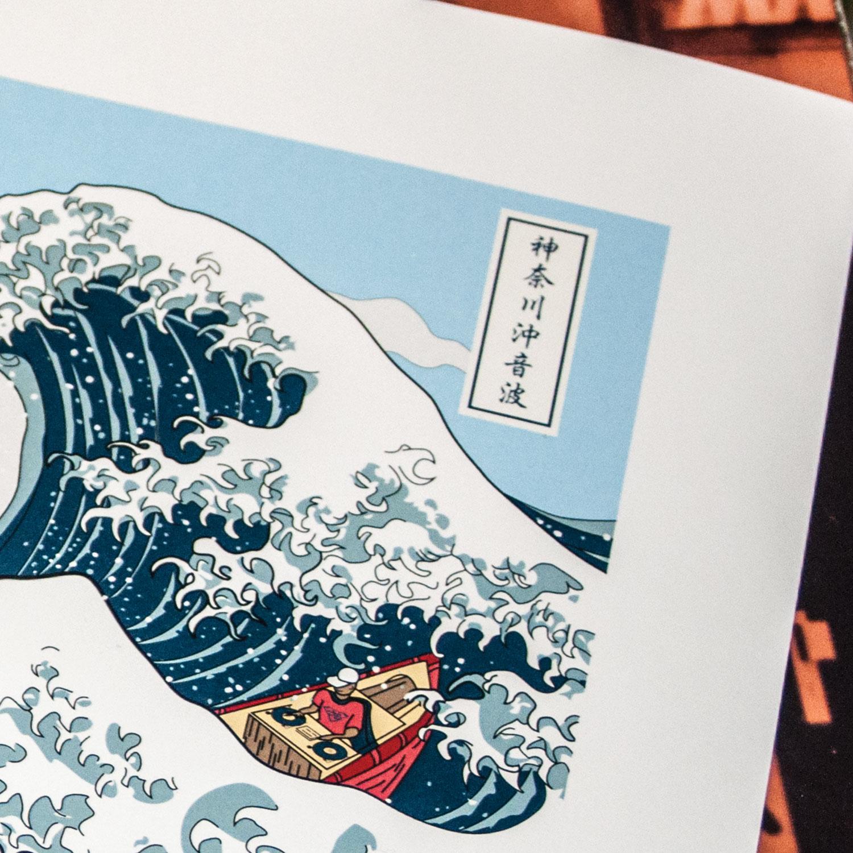 Soundwave off Kanagawa art print by uchi clothing