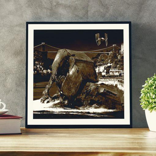 Star Wars v Bristol Episode II - Walker Down Over Avon Gorge art print