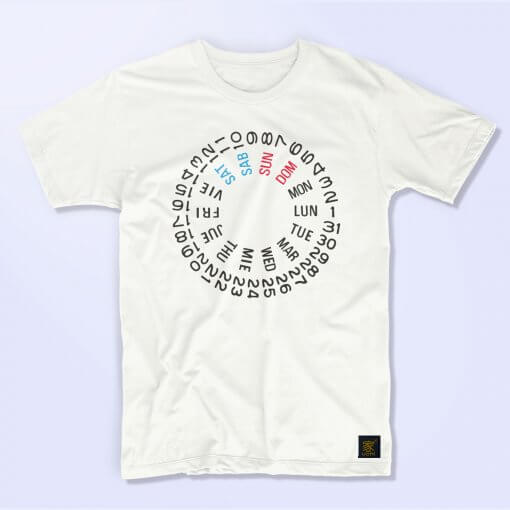 Seiko SKX International day date wheel men's white T shirt