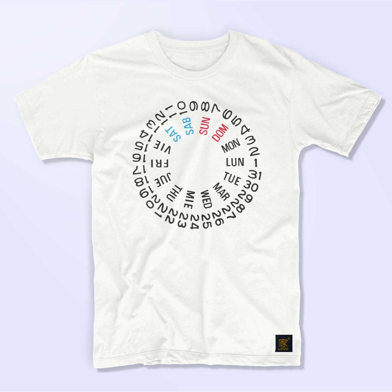Seiko SKX International day date wheel men's white T shirt