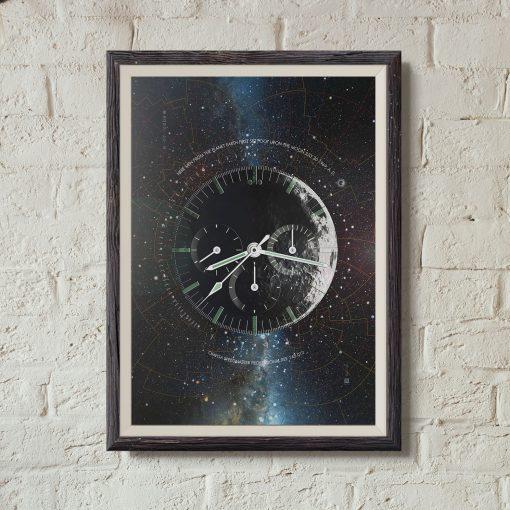 Omega Speedmaster Professional Moonwatch Horology art print