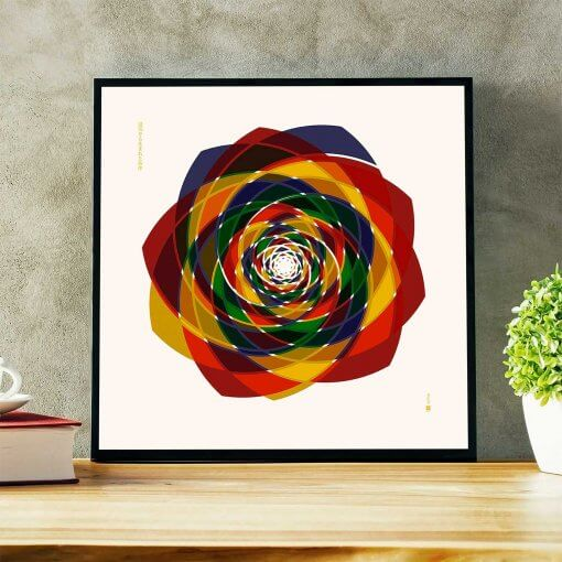 Order Out of Chaos (light) art print by uchi clothing