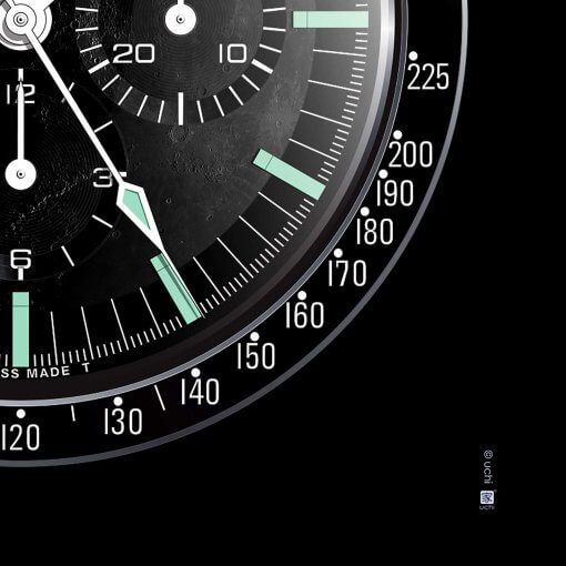OMEGA Speedmaster art print detail - uchi horology series
