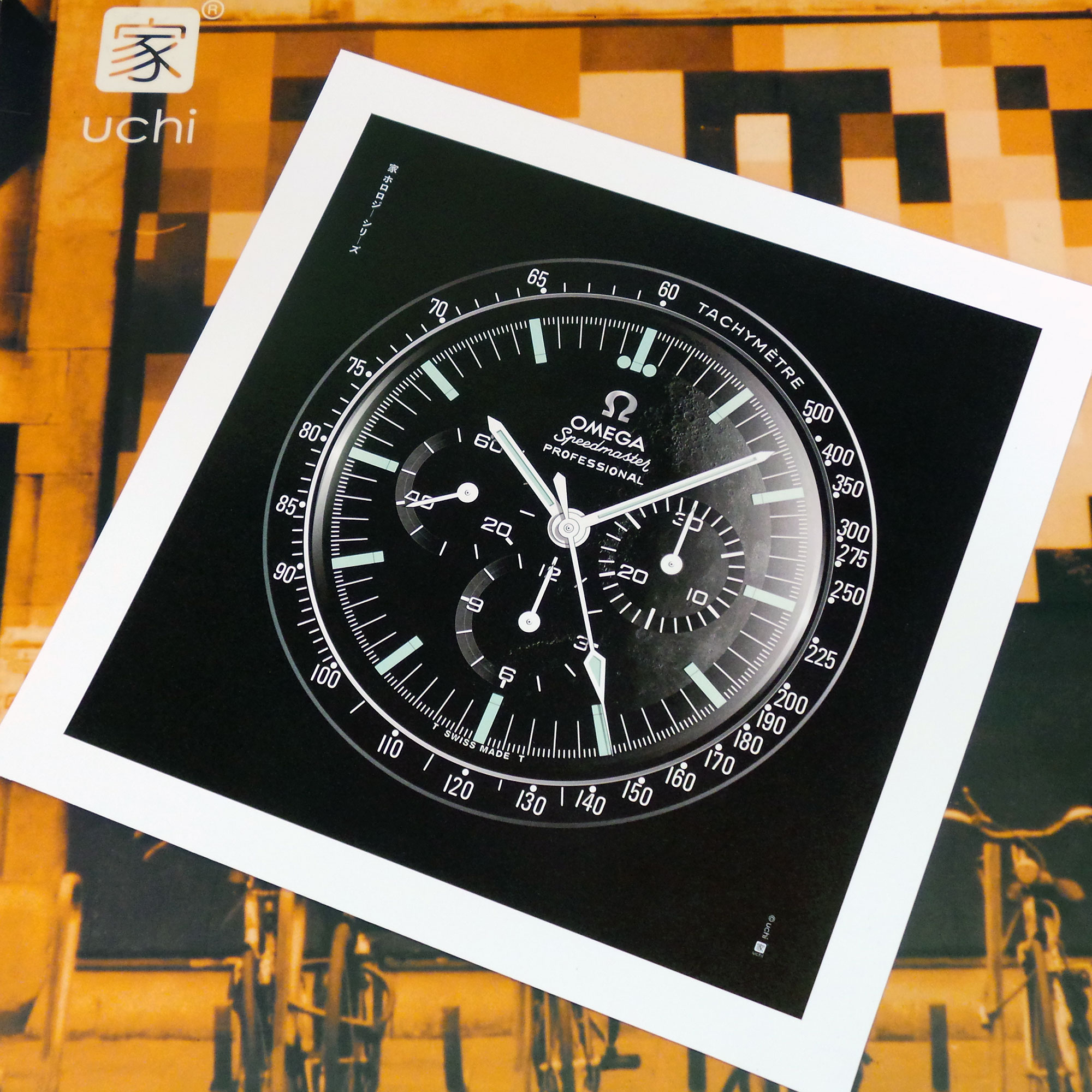 OMEGA Speedmaster Moonwatch art print - uchi horology series