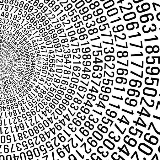 Pi mathematics art print detail