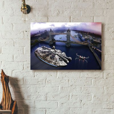 Star Wars - Tower Bridge by Number Nine - art print