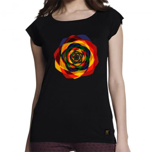Order Out of Chaos women's black T shirt