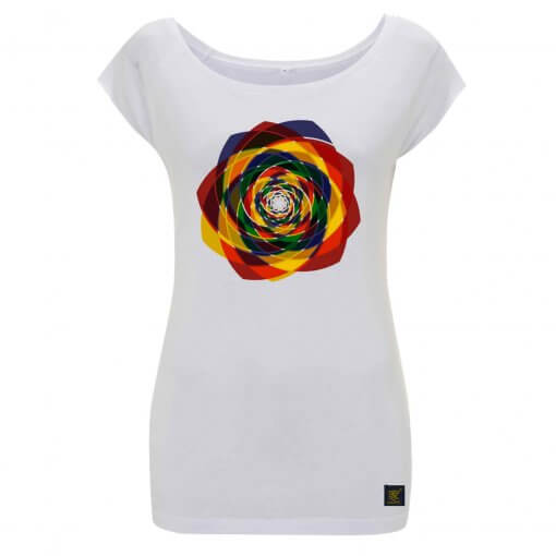 Order Out of Chaos women's white T shirt