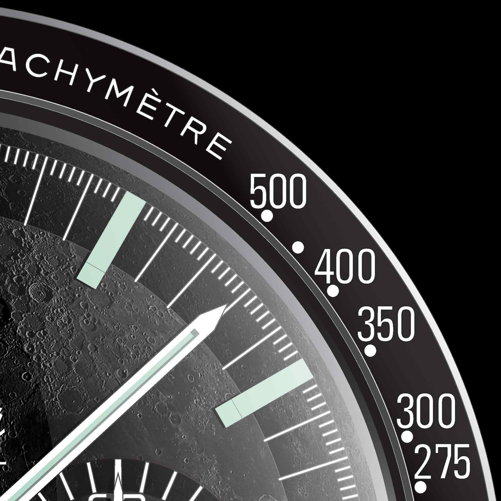 OMEGA Speedmaster art print detail - uchi horology series