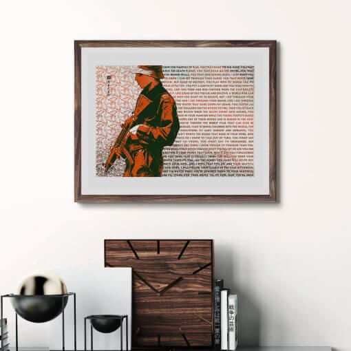 Masters of War Bob Dylan art print