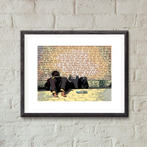 Subterranean Homesick Blues Bob Dylan art print