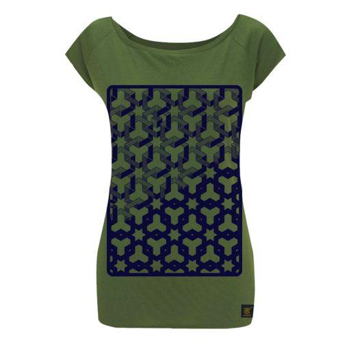 Womens T shirt - Hexagon Space
