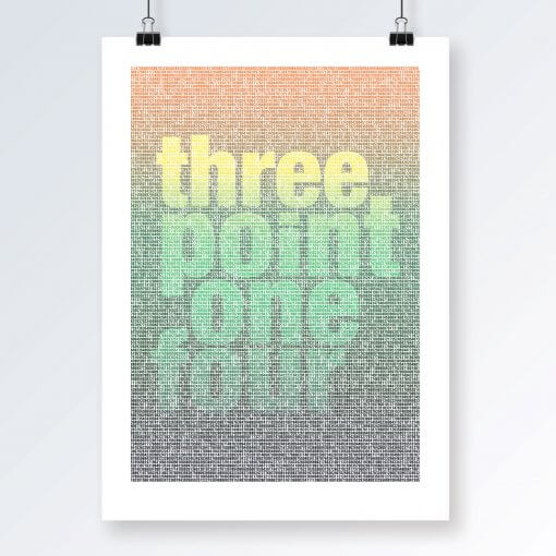 Three Point One Four art print